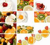 colorful fruit composition