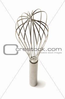 beautiful silver whisk