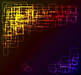 abstract background made from rounded rectangles