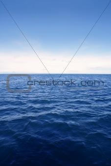 Blue simple clean seascape sea view