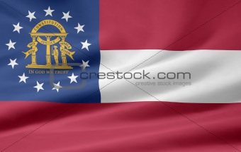 Flag of Georgia - USA