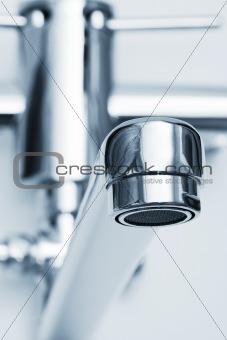 close-up faucet