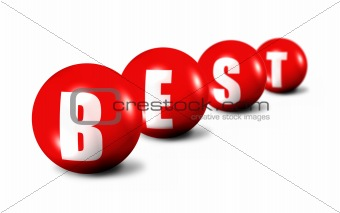 Best word made of 3D spheres