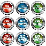 Free Chrome Rivet Buttons
