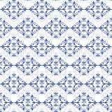 White-blue seamless pattern (vector)