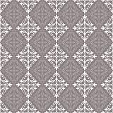 White and grey vintage seamless pattern