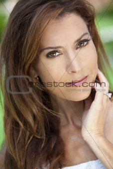Outdoor Portrait of A Beautiful Young Woman In Her Thirties