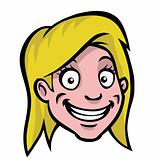 Female cartoon head