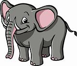 Happy cartoon elephant