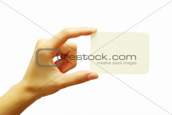 card in hand