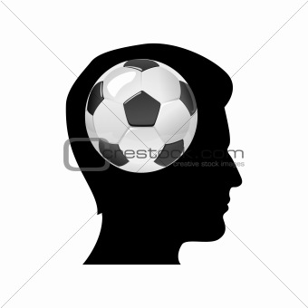 man thinking of soccer match