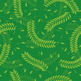Seamless Tamarind Leaves Pattern
