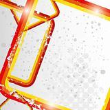 Grunge retro reddish frames background eps 10