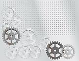 Gray background with the gears