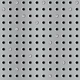 Metal seamless background with perforation