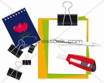 A set of stationery for the office