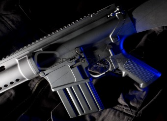 Assault rifle with blue gel