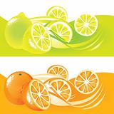 Lemons and oranges illustration