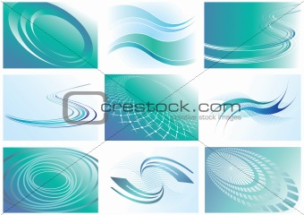 Abstract backgrounds set.