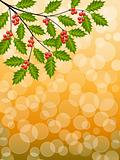Abstract background with a holly branch