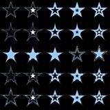 Blue stars. Design elements.