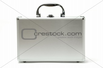 metallic briefcase