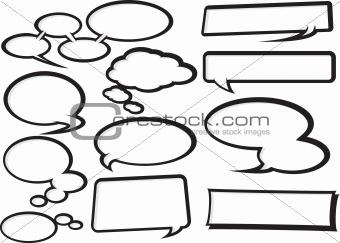 Cartoon Speech Bubble Collection 1