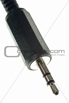 Black Stereo Jack plug
