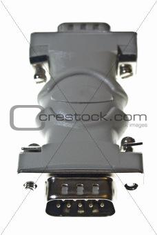 D type male adaptor