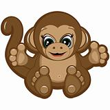 Little Monkey - one of the symbols of the Chinese horoscope