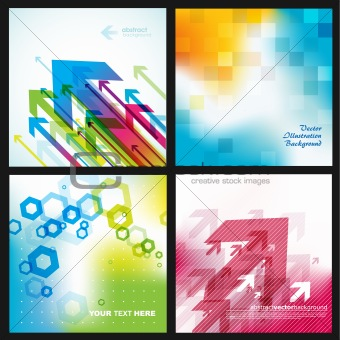 Four abstract backgrounds.