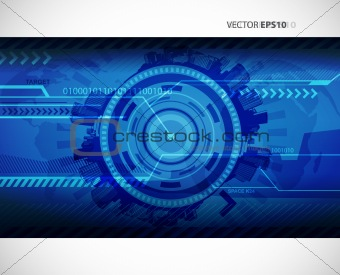 Abstract blue technology illustration with place for your text.