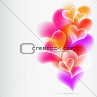 Abstract Colorful Background from hearts. Vector.