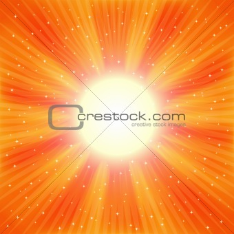 Abstract vector blast of stars