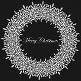 Black and White Christmas frame illustration.