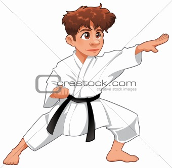 Baby Karate Player