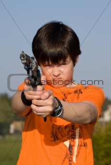 Boy with gun