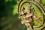 Statue of Shiva Nataraja - Lord of Dance at sunlight