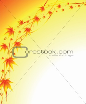 autumn background from