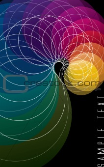 Abstract color spectrum background