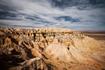 Bayanzag Flaming Cliffs Gobi Desert Mongolia Side