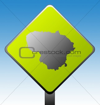 Lithuania road sign