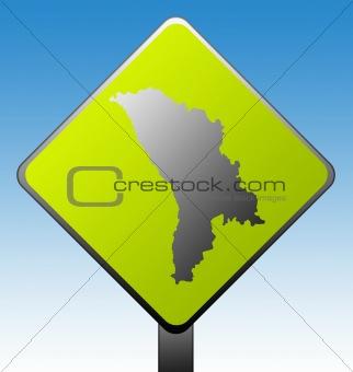 Moldova road sign