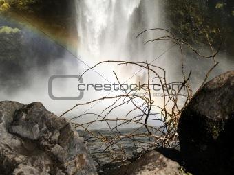 Waterfall and rainbow