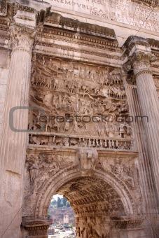 Arco di Settimio Severo, Forum Romano in Rome, Italy