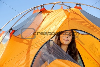 Camping out in Tent
