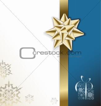 Blue vector Christmas card