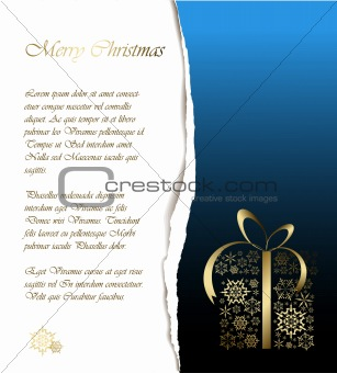 Abstract Christmas card with sample text