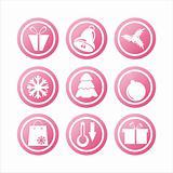 pink christmas signs