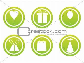 green birthday signs